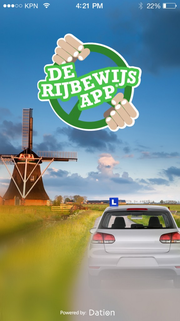Rijbewijs App splash-screen